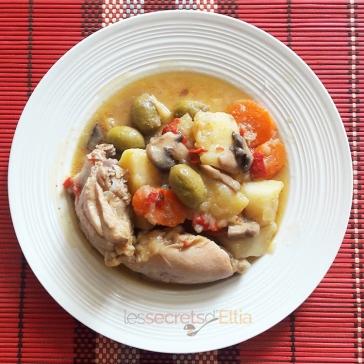 Ragoût de pommes de terres aux olives